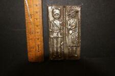 Antique Late Victorian Chocolate mould of British Soldier + Scottish Highlander