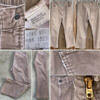 Vintage Levi's 646 Corduroy Pants Talon 42 Zipper Flare Leg Bell Bottom 34