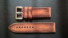 WATCH STRAP/BAND - VINTAGE CALF LEATHER - PAM - HELBERG - ARMIDA - HANDMADE 26mm