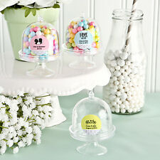 50 Personalized Mini Cake Stand Candy Jars Birthday Baby Party Wedding Favors