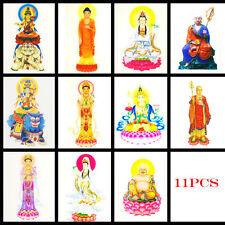 Tibetan Buddhist Thangka Thanka OM Buddha Kwan-yin Statue Amulet Happy Card x11