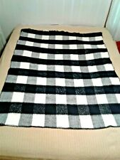 San Marco Black and White Checkerboard Blanket/Throw Size 45 x 66
