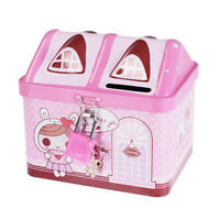 Pink Piggy Bank Money Coin Box Bear House Model Money Save Box Birthday Gift S