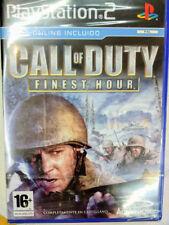 Call of Duty Finest Hour para playstation 2 Nuevo y precintado Pal