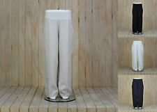 Plus Size 14 16 18 20 22 24 26 Ladies Lagenlook Quirky Linen Trousers BNWT 3205