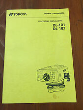 TOPCON DIGITAL LEVEL DL-101 DL-102 INSTRUCTION MANUAL SURVEYOR