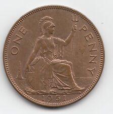 Very Rare George VI 1951 Penny 1d