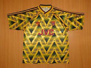 ARSENAL 1991 1992 away shirt jersey camiseta soccer 91 Adidas banana 90's