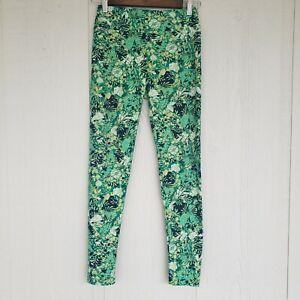 NWOT One Size Lularoe Green Floral/Foliage Pattern Leggings