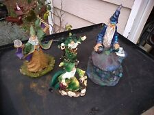 Lot of 4 Unique Fantasy Sci Fi Wizards Merlin cauldron With Orbs Unbranded