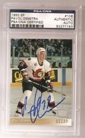 PAVOL DEMITRA SIGNED 1993 UPPER DECK SP #108 PSA/DNA Auto SENATORS BLUES CANUCKS