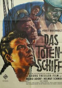 """[K3] """"DAS TOTENSCHIFF MARION ADORF HORST BUCHHOLZ ELKE SOMMER"""" FILMPLAKAT"""