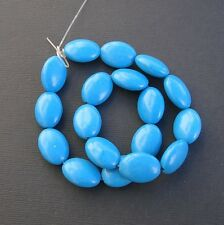 Blue Turquoise Beads Gemstone Oval 13x18mm ..