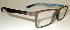 RAY BAN RB 6901 5612 BROWN WITH BLUE PLASTIC EYEGLASS FRAMES 145   55 - 17