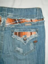 Jr's Candie's Jeans Cropped Stretch Distressed Size 9