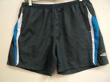 Mint Umbro Women Gray / Blue Indoor Soccer Running Gym Shorts Sz 12 (34 -38 x4)