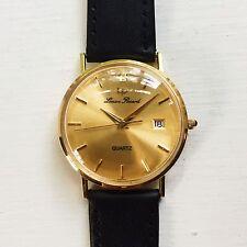 Vintage Rare Lucien Piccard LP 14K SOLID GOLD Quartz Watch SERVICED