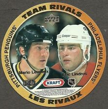 1996-97 Kraft Peanut Butter NHL Disc, Lemieux, Lindros, Gilmour and Damphousse