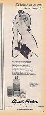 PUBLICITE ADVERTISING 114 1953 ELISABETH ARDEN  crème Ardena par René Gruau