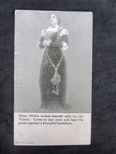 Antique 1914 Nellie Melba Victor Advertising Postcard, Bratton's Music Store