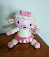 "Disney Just Play Doc McStuffins 4"" Lambie Lamb Poseable Plastic PVC Figure T3"
