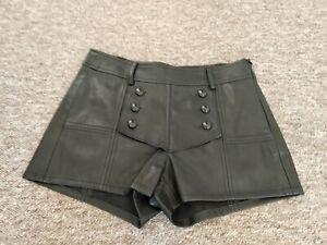 Beautiful Soft Black Leather rosa cha Designer Shorts Size XS  Waist  28 in VGC