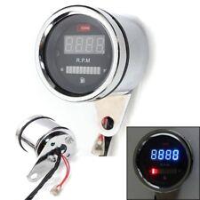 2in1 DC 12V Universal Motorrad Digital Rot LED Tachometer Drehzahlmesser