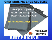 25 50 100 X Grey Mailing Bags Strong Parcel Postage Plastic Post Poly Self Seal