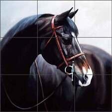 Tile Mural Backsplash Kitchen Shower Crawford Ceramic Horse Equine Art JCA022