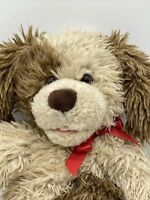 Build A Bear Scruffy Puppy Plush Dog Brown Cream Tan Fluffy BABW Retired