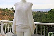 BEBE Cold Shoulder Sweater Tunic Length Beautiful Texture Women XS NWT Crochet