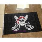 Pirate with Bandana 90*150cm Feet Flag Skull and Crossbones Jolly Roger Banner