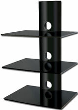 DVD Glass Wall Shelves Bracket Cable Management for Sky Wii DVD Xbox Ps3 Black 3
