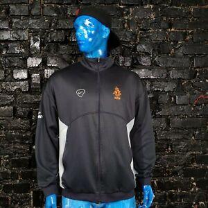 Netherlands Holland Team Training Jacket With Zipped Gray Nike Mens Size XL