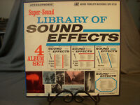 Vintage 1957 Library Of Sound Effects Vol 1-4 Audio Fidelity 5 Vinyl LPs Records