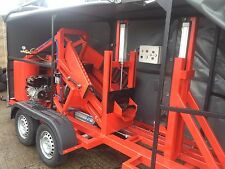 portable tyre packing doubling trippling machine on trailer part worn tyres tire