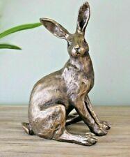 Distressed Gold Resin Sitting Rabbit Ornament Figurine Statue Gift Idea Present