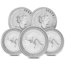 Lot of 5 - 2020 1 oz Australian Silver Kangaroo Perth Mint Coin .9999 Fine BU
