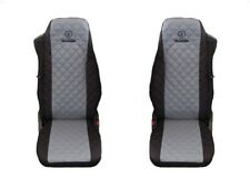 SCANIA Truck Seat Covers 2 piece (1+1)BLACK GREY