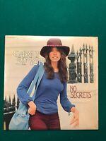 Carly Simon No Secrets Vinyl LP Dated 1972