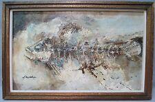 Heavy Impasto Abstract Fish Modern Painting by New York Artist Bill Jacklin?