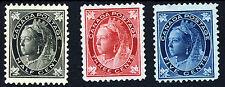 Canada Regina Vittoria 1897 HALF CENT. 3c. 5c. & ACERO FOGLIE SG 142 a 146 Nuovo di zecca