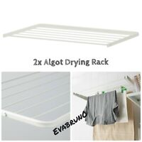 """TWO 2X IKEA ALGOT Clothes Drying Rack White 23 5/8"""" 902.185.61 NEW SET OF 2"""
