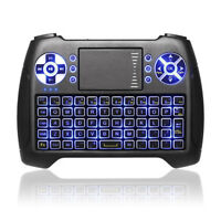 2018 Latest Backlit 2.4GHz Mini Wireless Keyboard with Backlight Touchpad Mouse