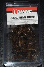 VMC 9650 Round Bend Treble Hooks Size 5/0 Pack of 25 9650BZ-50 Bronze 1X Strong
