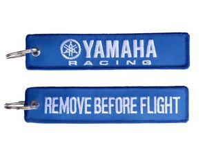 Yamaha Racing Remove Before Flight Key Ring Key Tag Wash Bung Exhaust Bung Tag