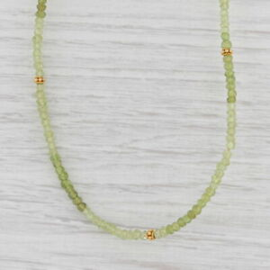 New Nina Nguyen Harmony Bead Necklace Gold Vermeil Sterling Green Peridot