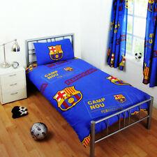 FC BARCELONA DUVET PILLOW CASE QUILT COVER SINGLE BOYS CHARACTER BEDDING SET FCB