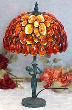 Luxus Bernsteinlampe Tischlampe Edelstein Lampe Bernstein Leuchte Tiffany Deko