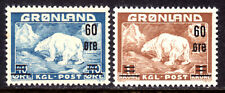 GREENLAND #39-40, 1956 SET/2,  VF, OG-NH